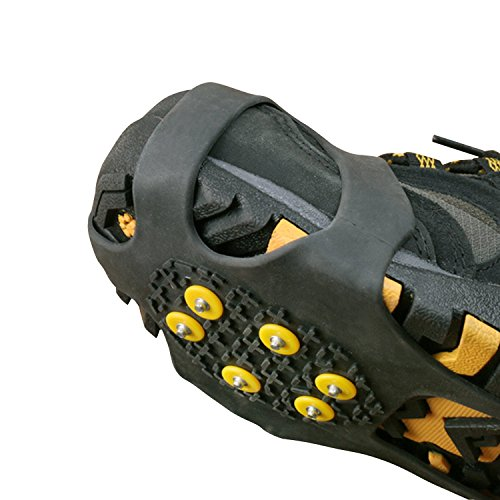 Gzq Ice Crampons antidérapants Chaussures de neige Coque tractions Winter Ice Grippers Crampons Spikers pour randonnée Pêche escalade Marche Jogging