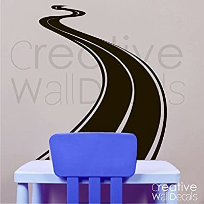 CreativeWallDecals Vinyl Wall Decal Sticker Road Track Race Moto Car Boy Man Gift Kids Room R1826: Home & Kitchen