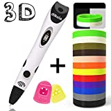 dikale 3D Pen with PLA Filament Refills 07A【Newest Version】 3D Drawing Printing Printer Pen Bonus 12 Colors 120 Feet PLA 250 Stencil eBook for Kids Adults Arts Crafts Model DIY, Non-Clogging ...