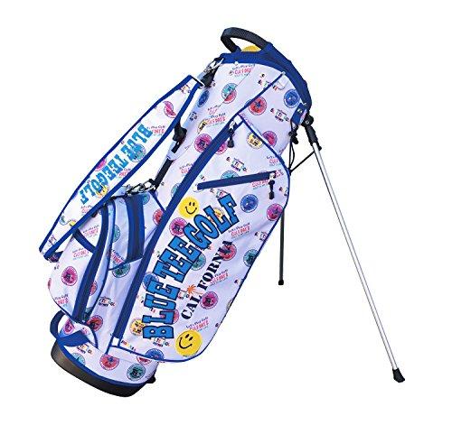 無駄に間欠カジュアルブルーティーゴルフ BLUE TEE GOLF California 【スタンド キャディーバッグ】BTGロゴプリント柄 最新モデル 9型 (ホワイト)