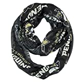 NHL Pittsburgh Penguins Sheer Infinity Scarf, One Size, Black