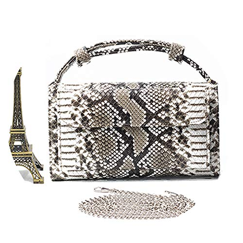 Women Messenger Bags Crocodile Python Pattern Patent Handbag Long Wallet Envelope Clutch Bag for Woman,Python Black