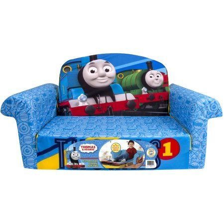 Marshmallow Thomas & Friends 2-in-1 Assorted Foam Flip Open Sofa Removable and Machine-Washable Slipcover Just The Right Size for Young (Homemade Mexican Costume)