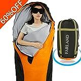 sleeping bag - FARLAND Lightweight Sleeping Bag & Portable Waterproof Mummy Bag for Summer Traveling