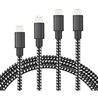 HokoAcc BGFHT  for iPhone Charger, [4Pack 3FT 6FT 10FT 10FT] Nylon Braided 8 Pin iPhone Lightning Cable to USB Charger Compatible with iPhone X/8/8 Plus/7/7 Plus/6s/6s Plus/6/6 Plus/5/5S/5C/SE/iPad