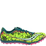 Saucony Women's Shay XC4 Spike Cross Country Spike Shoe,Citron/Navy/Pink,6 M US