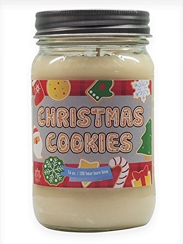 Christmas Cookies Candle ~ 16oz Soy Wax Candle ~ 100 Hour Burn Time ~ Made in USA (16, Cream) ()