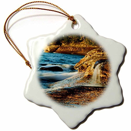 Angel Ornaments Danita Delimont - Coastline - USA, Michigan. Small waterfall along the edge of Lake Superior -