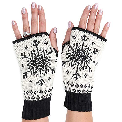 - Green 3 Women's Handwarmers Made in USA (Snowflake (Black))