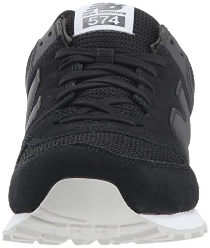 New Balance Herren Ml574 Sneakers Black Caviar/White