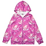 Flower Unicorn Hoodie for Girls Sweatshirts Zip Up Jackets for Kids 6t