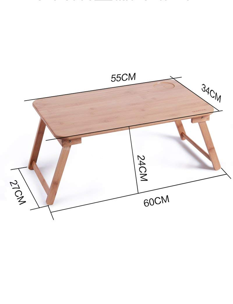 GUI Table-Bamboo Foldable Laptop Tables Bed Small Desk Learning Desk,Medium