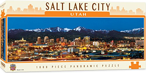 MasterPieces Cityscapes Panoramic Jigsaw Puzzle, Downtown Salt Lake City, Utah, Photographs by James Blakeway, 1000 Pieces