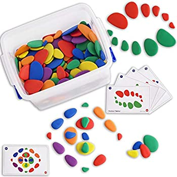 Amazon.com: edx education Junior Rainbow Pebbles Activity ...
