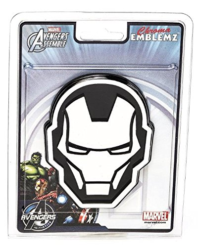 Chroma 41510 Ironman Logo Injection Molded Chrome Colored Emblem Decal