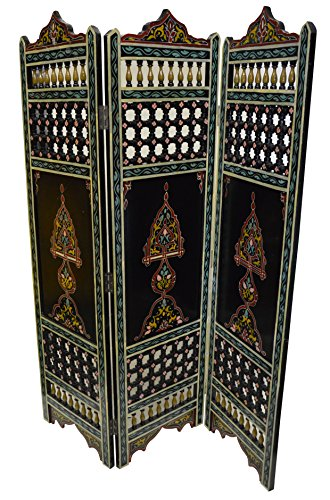 (Handmade Moroccan Room Divider Wood Screen Partition Panel Wall Separation )