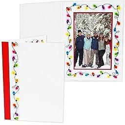 HOLIDAY STRING LIGHTS Photomount Folder 4x6 frame sold in 25\'s - 4x6