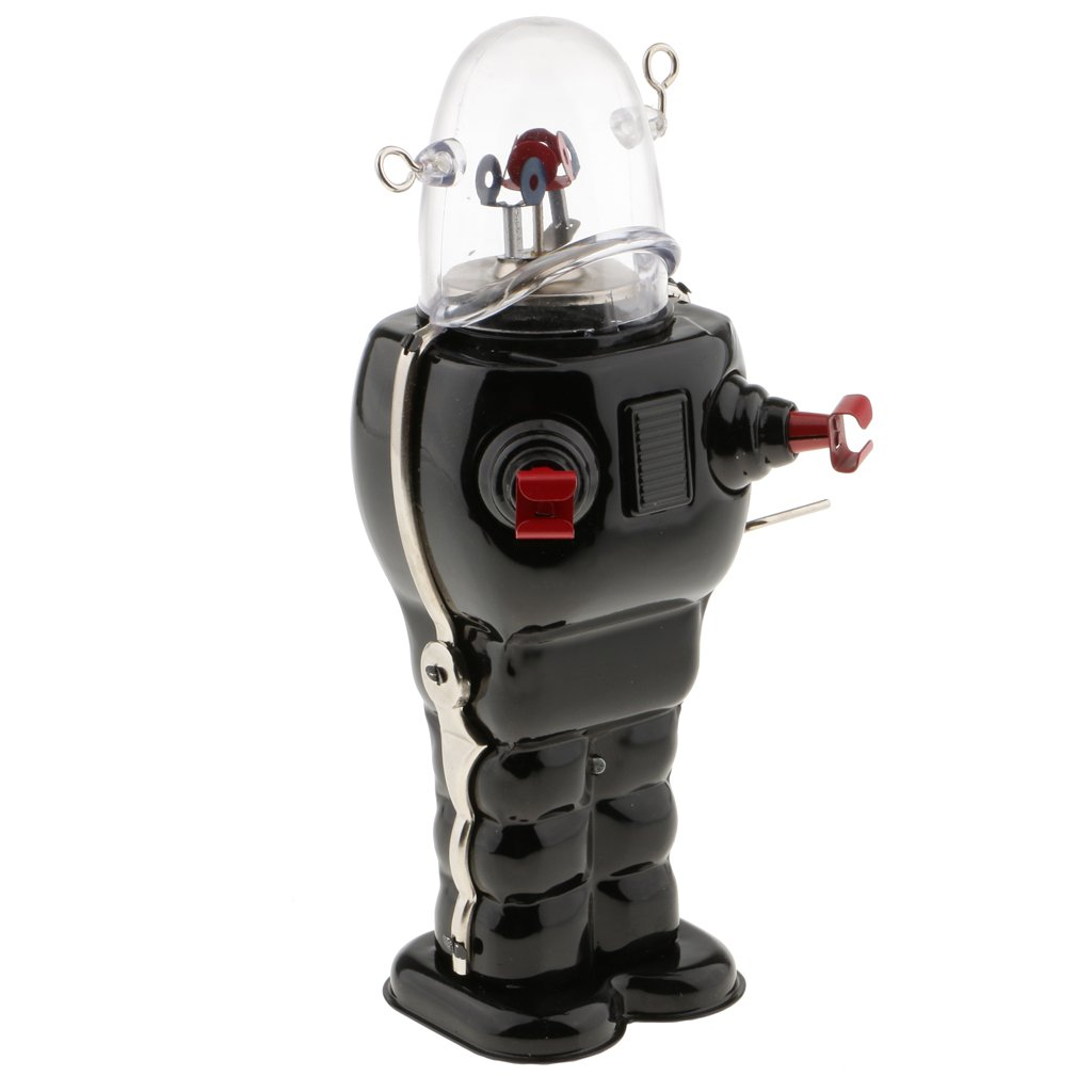 MonkeyJack Vintage Robot Toy Wind Up Clockwork Space Robots Tin Toys Kids Collectible Gifts - Black by MonkeyJack (Image #5)