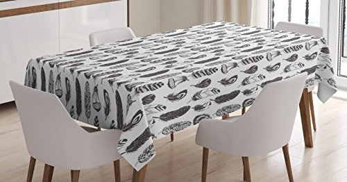 Tribal Tablecloth by Ambesonne, Native American Ethnic Feath