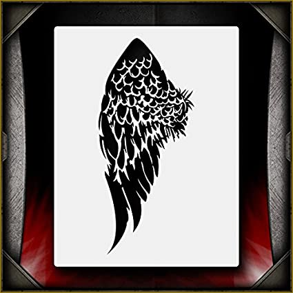 amazon com angel wing 3 airsick airbrush stencil template