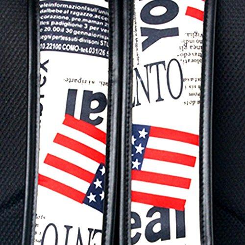 Veenajo US/UK Flag School Backpack Set Laptop Bag Travel Rucksack Casual Daypack 14 Inch with pen bag