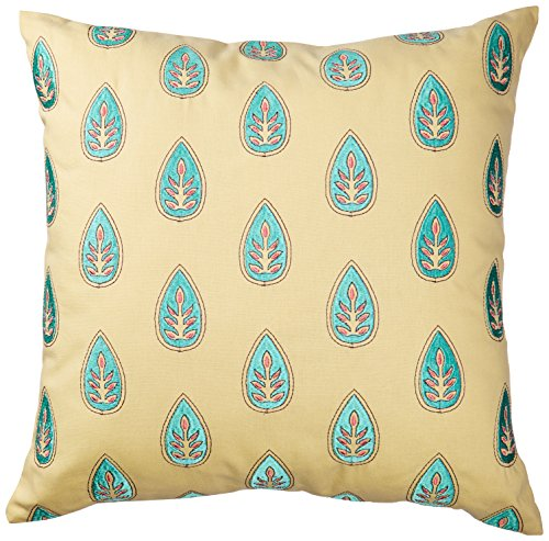 Echo Guinevere Square Pillow, 18 by 18-Inch, Yellow