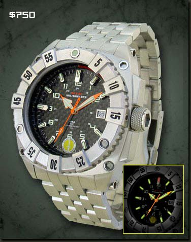 Amazon.com : MTM Special Ops Mens Warrior Titanium Watch - Silver Bracelet - Black Dial - MTM-WST : Everything Else