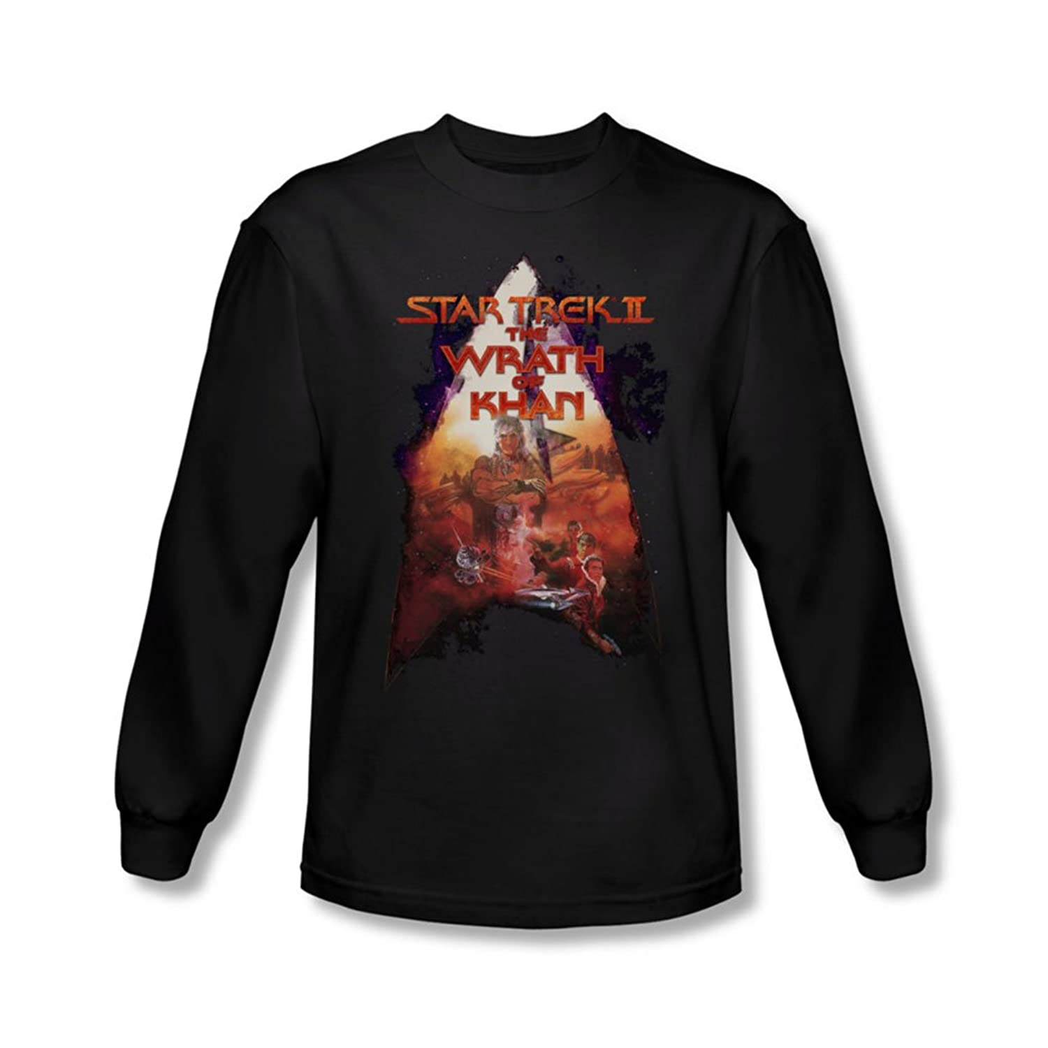Star Trek - Mens Twok Poster Long Sleeve Shirt In Black