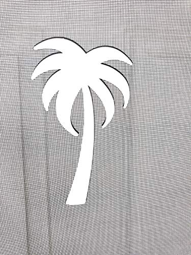 DCentral Palm Tree Screen Magnet Decor; Multipurpose, Double-Sided, Helps to Stop Walking into Screens, Covers Small tears in Screens, Decorates Screen Area. Set of Two Magnets. Size W 4.5