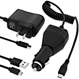 Fosmon Charger Combo Pack for Sony Xperia ZL / Xperia Z C6603 - Car Charger/Travel Charger/USB Cable