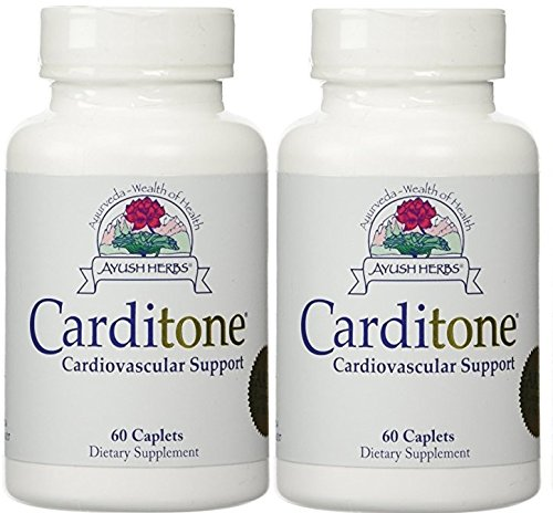 Ayush Herbs - Carditone 60 caplets (Pack of 2) ()