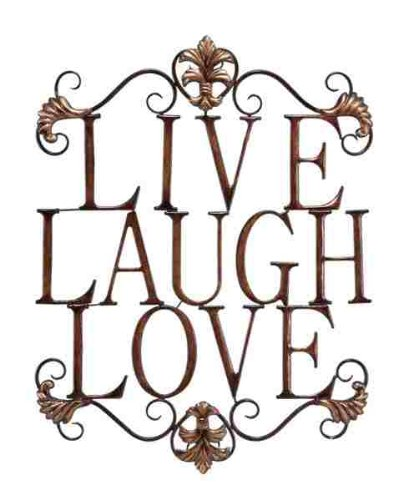 Live Laugh Love Modern Abstract Metal Wall Art Home Decor Decoration 28h 21w