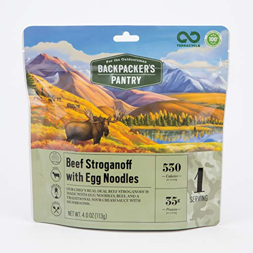 Backpacker's Pantry Outdoorsman Beef Stroganoff, 1 Serving Per Pouch, Freeze Dried Food, 35 Grams of Protein