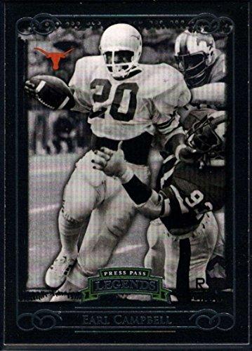 Mem Light - Football NFL 2008 Press Pass Legends #86B Earl Campbell Light Jersey NM-MT MEM