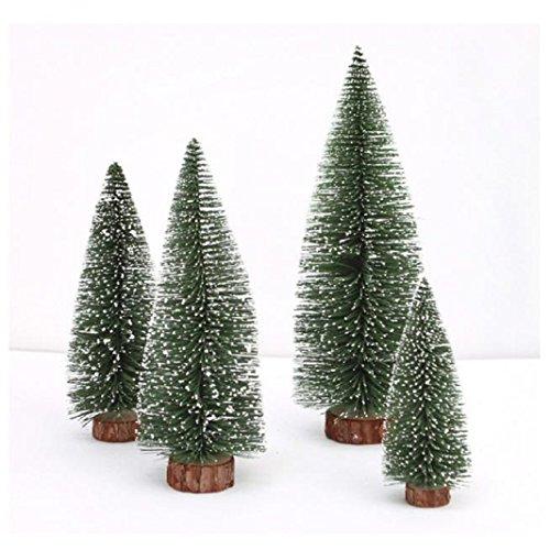 Iuhan Mini Christmas Tree Stick White Cedar Desktop Small Christmas Tree (Height: 20 cm)