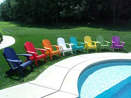 Cheap Furniture Barn USA Poly Lumber Wood Folding Adirondack Chair with Cup Holder – Orange