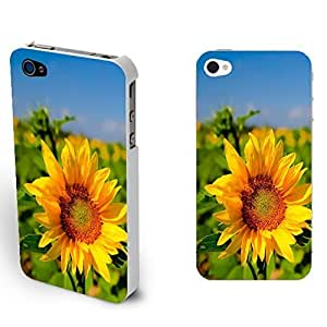 Unique Flowers Sunflowers Print Iphone4/4s Cover Case Floral Pattern Design Protective Cell Phone Case Skin for Girls (sunflower 05)
