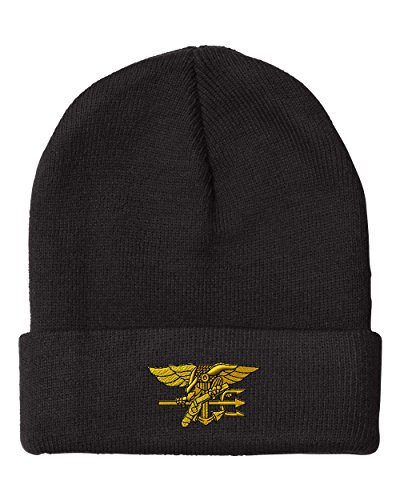 U.S. Navy Seal Embroidery Embroidered Beanie Skully Hat Cap Black (Navy Seal Beanie Hat)