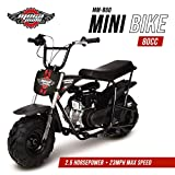 Mega Moto Gas Mini Bike 80CC / /2.5HP with Suspension (MM-B80-BRS)(Black)