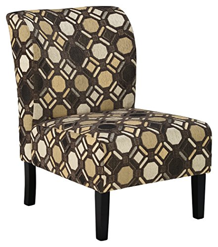 Ashley Furniture Signature Design - Tibbee Accent Chair - Contemporary Patterned Seating - Pebble Pebble Design