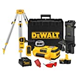 DEWALT DW079KDT 18-Volt Self-Leveling Interior Rotary Laser Kit with Laser Detector and Tripod