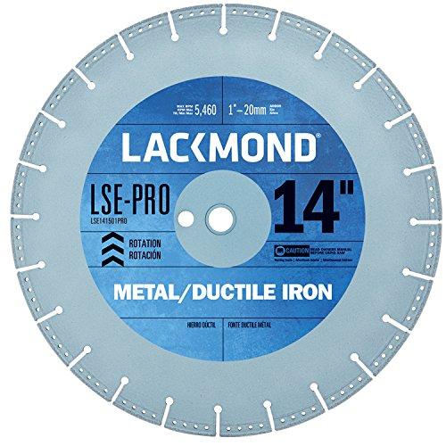 Cutting Ductile Iron - Lackmond LSE-Pro - Metal/Ductile Saw Blade - 14