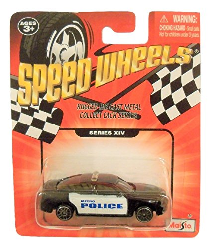 Speed Wheels 2007 Dodge Charger Metro Police Cruiser ~ Black with White Door and Blue Letters (Series XIV)