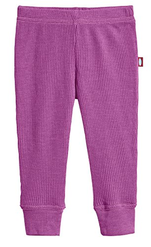 City Threads Baby Boys and Baby Girls Soft Cotton Thermal Cuffed Baby Newborn Infants Pants Joggers for Sensitive Skin SPD Sensory Friendly Clothing,Plum, 0/3m -