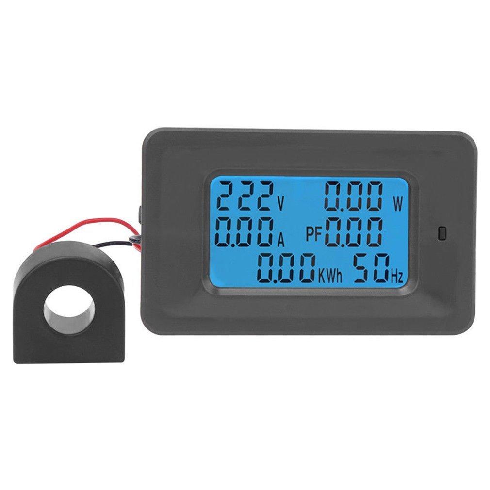 AC 110-250V 220V 100A Digital LCD Meter Monitor Power Energy Ammeter Voltmeter