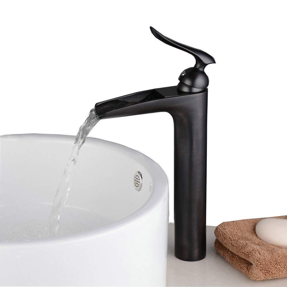 Beelee BL9009WH Monocomando per Lavabo cascata beccuccio rubinetto lavabo alto, finitura cromata lucida/Bianco Pittura Wenzhou Bela Sanitary Ware Co. Ltd BL9009HW