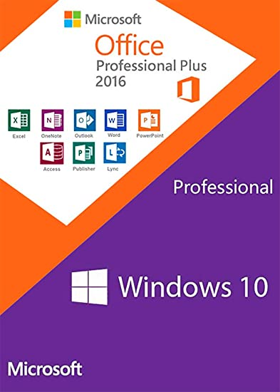 Windows 10 PRO OEM + Office 2016 Professional Plus - Keys Pack