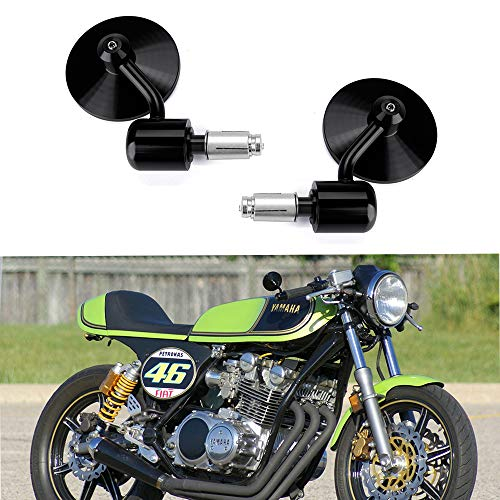 """Motorcycle CNC Handle Bar End Mirrors 3""""Round 7/8"""" for sale  Delivered anywhere in USA"""