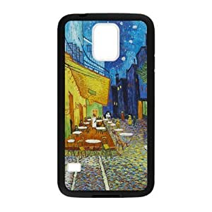 Cafe Terrace at Night by Vincent Van Gogh Plastic and TPU Case Cover for Samsung Galaxy S5 (Laser Technology)