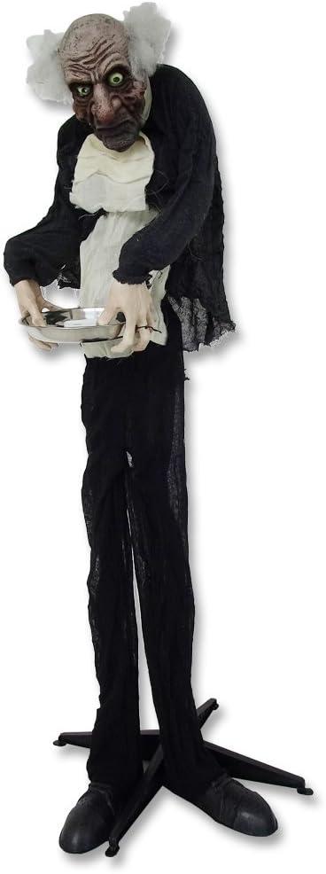Happy Halloween Zombie Butler mit Laterne beweglich mit Sound